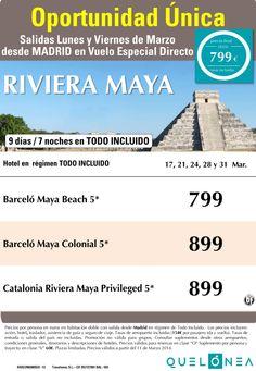 Oportunidad Unica a Riv. Maya desde 799 €.Salidas lunes y miércoles desde Mad ultimo minuto - http://zocotours.com/oportunidad-unica-a-riv-maya-desde-799-e-salidas-lunes-y-miercoles-desde-mad-ultimo-minuto/