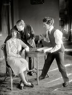 "March 15, 1926. Washington, D.C. ""Lady Cathcart, Austin Fairman & George Vivian."" Countess Vera Cathcart, playwright-star of the theatrical flop ""Ashes of Love,"" whose visit to America was notable mostly for a scandal involving a champagne-filled bathtub."