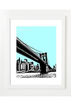 $20 Brooklyn Bridge Poster by Birdave on Jack Threads - Join Now: http://www.jackthreads.com/invite/tobytoby7