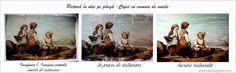 Restaurare pictură restaurare picturi: Copii cu coșuri de nuiele Restaurant, Painting, Diner Restaurant, Painting Art, Paintings, Restaurants, Painted Canvas, Drawings, Dining