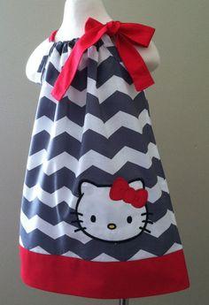 Custom Chevron Pillow Case Dress w/Character. $24.00, via Etsy.