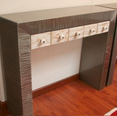 Meuble métal Console tiroirs www.loftboutik.com