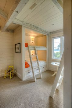 Built in bunk bed  A South Camano Island Residence - traditional - kids - seattle - RGN Construction