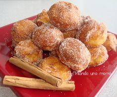 Buñuelos_de_viento / •125 ml. de leche •60 gr. de mantequilla •75gr de harina •3 huevos L •Sal •Ralladura de naranja.  •Canela (opcional)