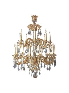Fine Louis XV Crystal and Bronze 24 Light Chandelier. || TheHighBoy || #highboystyle #antiquesmakeitbetter #antiques #vintage #homedecoration #chandeliers