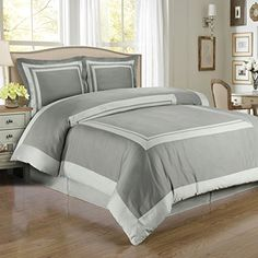 Gray and Lt-Gray Hotel 4pc King / Cal-King Comforter Set 100 % Egyptian Cotton 300 Thread Count by Royal Hotel Royal Hotel http://www.amazon.com/dp/B00MAWXMS8/ref=cm_sw_r_pi_dp_AD2bub1QJ6XK3