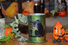 Beer tankard black cat stein tankard mug beer forged
