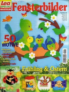 Creativ Idee-Super Sommerspass ; Lea special Fensterbilder - Angela Lakatos - Picasa Webalbumok Crafts To Make, Crafts For Kids, Magazine Crafts, Class Decoration, Magazines For Kids, Painted Books, Spring Activities, Book Folding, Punch Art
