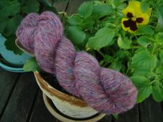 Wool and Recycled Silk - Lt Purple 38 on Etsy, $6.75