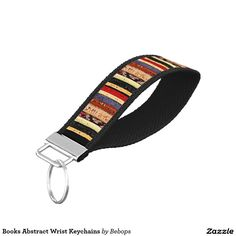 Books Abstract Wrist Keychains