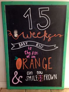 15 weeks pregnancy chalkboard