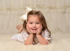 I'm four years old ~ Jamey Reed Photography ~Alabama Child Photographer ~ Guntersville, Alabama ~ Portrait and Commercial Photographer ~ Little Girl ~ 4 years old ~ studio photography ~ monochromatic ~ child