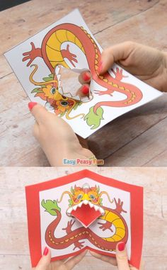 What better way to appreciate or celebrate Chinese New Year than by making (and gifting) a cool Chinese Dragon Pop Up Card.
