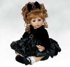 Baby Eden 22nd Anniversary Toddler with her adorable pout! #dolls #porcelaindolls #marieosmond