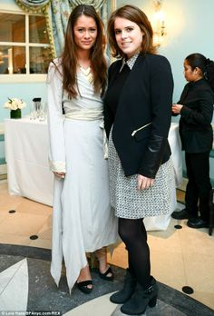 dailymail:   Princess Eugenie with Lexi Bowes-Lyon at the newly opened Ladureé Tea Salon, Soho, New York, April 9, 2014