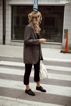 {Grey blazer.}