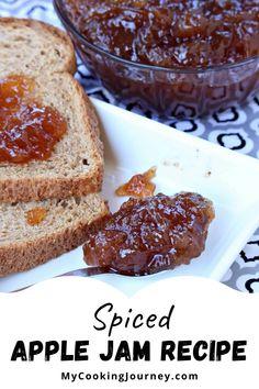 The spices in the jam will make the whole house smelling fabulous. #applejam #spicedjam #dessert #applejamrecipe @mycookinjourney | mycookingjourney.com