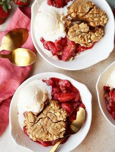 Joy the Baker makes strawberry cobbler topped with peanut butter cookies!