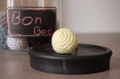 Summer crochet ring  Bon Bon light yellow wool by kckshop on Etsy, €10.00