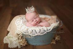 Giselle Princess Rhinestone Newborn Crown - READY TO SHIP