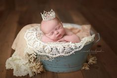 Giselle Princess Rhinestone Newborn Crown - READY TO SHIP
