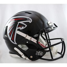 NFL Riddell Atlanta Falcons Revolution Speed Full-Size Authentic Football Helmet Spoil your inner fanatic and be the envy of all your friends when you display Atlanta Falcons Helmet, Atlanta Falcons Rise Up, Falcons Football, Football Helmets, Football Gear, Football Baby, Football Players, Football Equipment, Sports Equipment