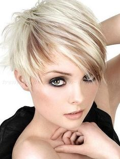 pixie cut, pixie haircut, cropped pixie - blond pixie hairstyle with lightbrown lowlights