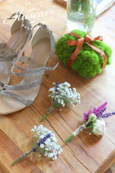Kwiatowa poduszeczka na obrączki oraz butonierki ślubne