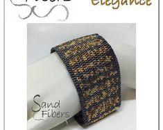 Peyote Pattern  Log Cabin Braid Cuff / Bracelet  A por SandFibers