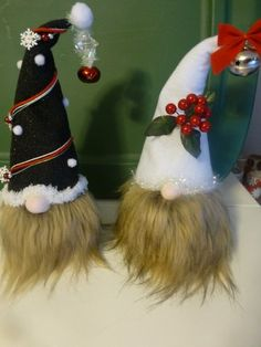 A couple o my rice filled sock gnomes! I spent a lot of time hangin' with my gnomies!