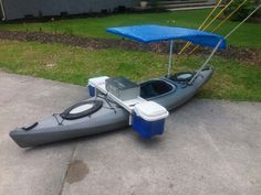 Kayak modification, fishing machine, boat mod