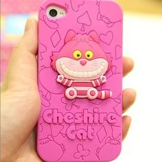 Disney  3D Cheshire cat Lovely Silicone Soft Cover Case