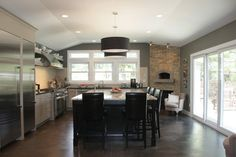 The styling is too contemporary for my tastes, but the layout has some considerations for my project! Pizza Ovens Indoor Design Ideas, Pictures, Remodel, and Decor - page 2