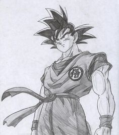 Goku Drawings Pencil Pic 23 | Drawing and Coloring for Kids