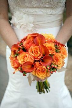 Ramo de novia de color naranja                                                                                                                                                                                 Más