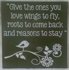 Roots and Wings Wood Sign by WordArtTreasures on Etsy, $16.00