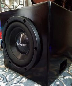 DIY 10 I wanted a cheap and powerful subwoofer for my speakers and instead of shelling out I went for the DIY route after finding a Pioneer Diy Subwoofer, Subwoofer Box Design, Powered Subwoofer, Diy Soundbar, Best Portable Bluetooth Speaker, Home Speakers, Home Theater Speakers, Home Theater Setup, Best Home Theater