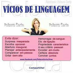 Vícios de linguagem. #portugues