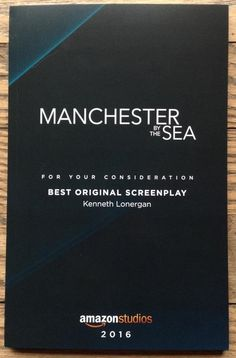 Manchester by the Sea - 2016 FYC screenplay by Kenneth Lonergan - bound paper