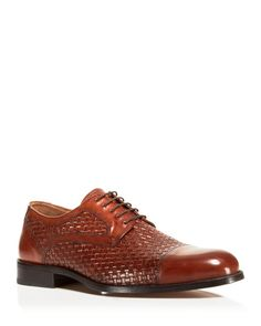Johnston & Murphy Stratton Woven Cap Toe Oxfords