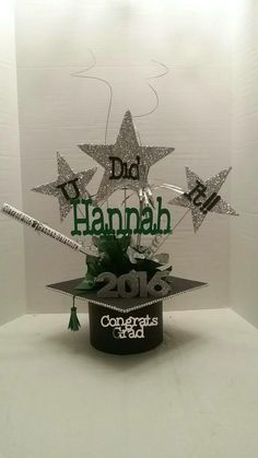 High School Graduation, Graduation Parties, Graduation Ideas, Graduation Centerpiece, Centerpieces, Reception, Place Card Holders, Showers, Party Ideas