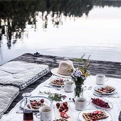 Can't help drooling over these pictures from our waffle gathering on a little dock on a lake far away in the Swedish woods last weekend. Just love these memories - and oh, just loved those waffles. Brunch, Picnic Date, Beach Picnic, Best Espresso, Espresso Coffee, Jolie Photo, Photo Instagram, Instagram Travel, A Table