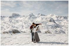 Snowshoe Hiking Winter elopement on the mountains of Hallstatt, Austria Bergen, Austrian Village, Hallstatt, Cloudy Weather, Before Sunrise, Stay The Night, World Heritage Sites, Winter, Engagement Photos