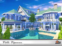 Villa Vipawan - The Sims 4 Sims 4 House Plans, Sims 4 House Building, Sims 4 Cheats, Sims Videos, The Sims 4 Lots, Sims 4 House Design, Casas The Sims 4, House Construction Plan, Villa