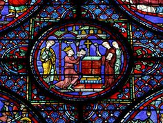 King Charles, Chartres Cathedral Stained Glass