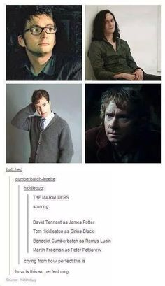 Casting The Marauders - Hiddleston as Sirius is pure genius, as is Freedman as Pettigrew.