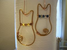 18 gauge aluminum copper wire beaded collar kitty ornaments
