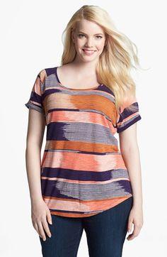 Plus Size Lucky Brand Alina Stripe Tee @Nordstrom