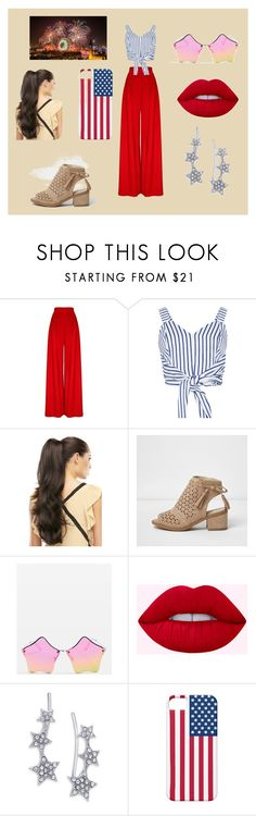 """""""4th of July"""" by evelyn-18 ❤ liked on Polyvore featuring Hebe Studio, WithChic, Topshop and INC International Concepts"""