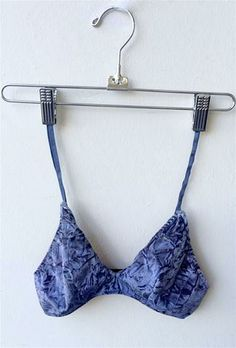 ANDY bralette by Private Arts. Featuring Blue ombre and crushed velvet.Shop now at privateartsla.com